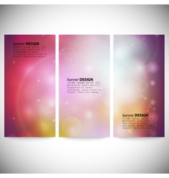 Set of vertical banners Abstract multicolored vector image
