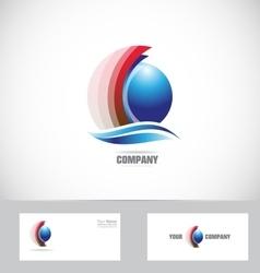 Sphere logo design icon 3d vector image vector image