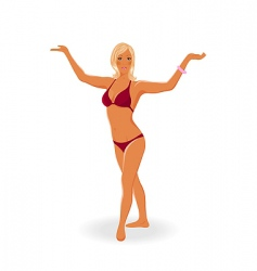 sunbathe girl isolated vector image vector image