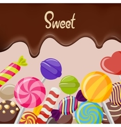 Sweet Candy Poster vector image vector image