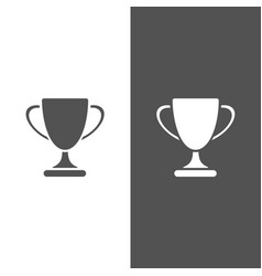 trophy icon on black and white background vector image vector image