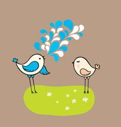 Two birds vector