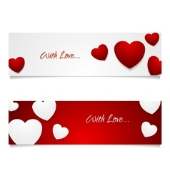 Valentine Day graphic design with hearts vector image vector image