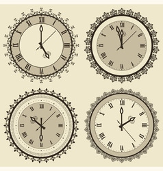 vintage clock set vector image
