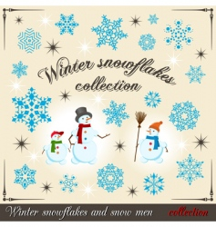 winter collection 2 vector image vector image