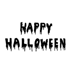 Happy halloween handwritten vector