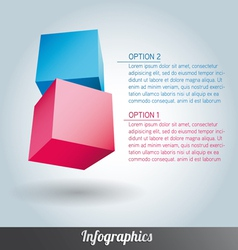 Cube infographics vector image
