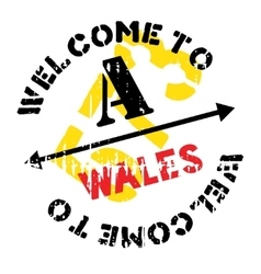 Wales stamp rubber grunge vector