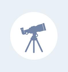 Telescope icon isolated on white vector