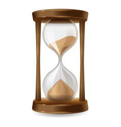 sand hourglass vector image
