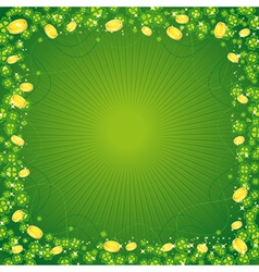 Clovers st patricks day background vector