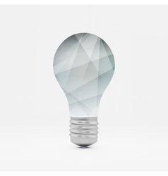Lightbulb idea symbol 3d  can vector