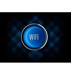 Wifi button vector