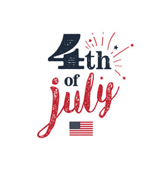 4th of july usa independence day 4th of july vector image vector image