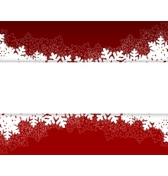Christmas card red vector