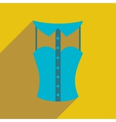 Flat icon with long shadow lady blouse vector