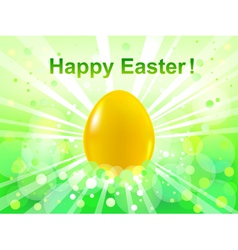 Easter green bokeh background vector