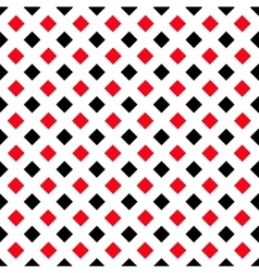 Geometric white black red square pattern vector