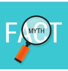 Fact or myth fiction true vector