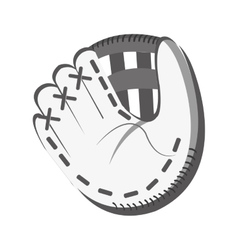 White baseball glove graphic vector