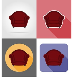 Furniture flat icons 22 vector