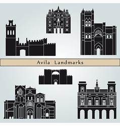 Avila landmarks and monuments vector image