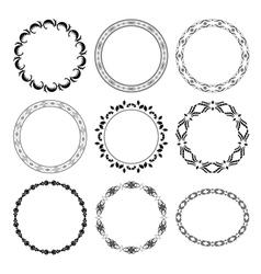 black round decorative frames - set vector image vector image