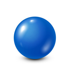 blue lottery billiardpool ball snooker white vector image