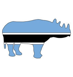 Botswana black rhino vector image vector image
