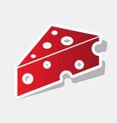 cheese maasdam sign new year reddish icon vector image