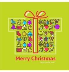 Christmas gift boxes made from icon vector
