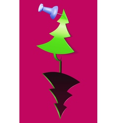 christmas tree tag vector image vector image