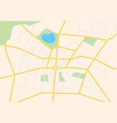 city streets on the map - background vector image