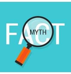 Fact or myth fiction true vector