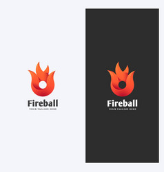 Flame logo template vector