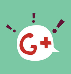Flat google plus icons on background vector