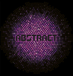 Futuristic abstract background with violet mosaic vector