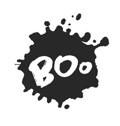 hand written boo with blot vector image