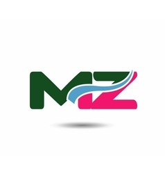 Letter m and z logo vector