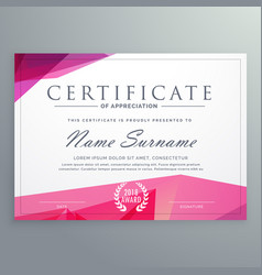 Modern certificate of appreciation creative vector