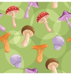 mushrooms seamless vector image vector image
