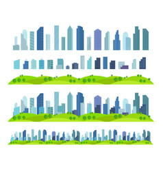 parallax effect ready city future building vector image