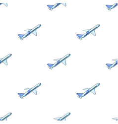 Postal aircraftmail and postman pattern icon in vector