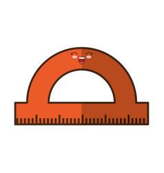 Protractor ruler icon vector