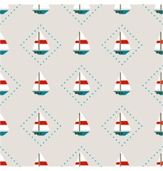 Seamless pattern with sailboats vector