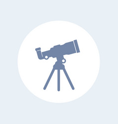 Telescope icon isolated on white vector