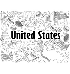 United states coloring book vector