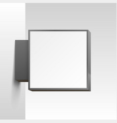 white square signboard on white background vector image vector image