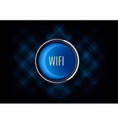 Wifi Button vector image vector image