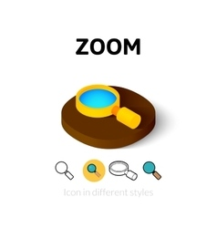 Zoom icon in different style vector